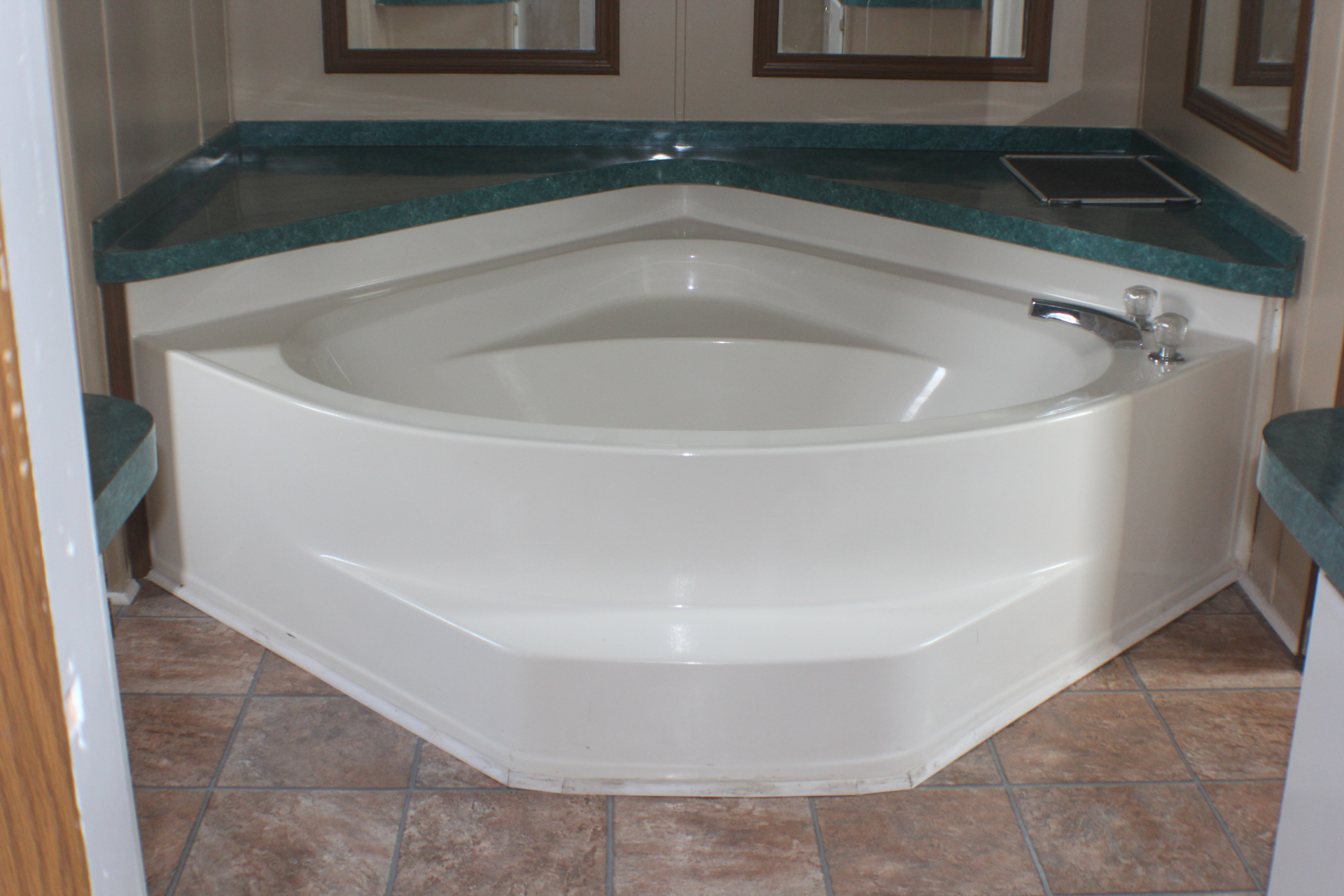 New garden tub and floors